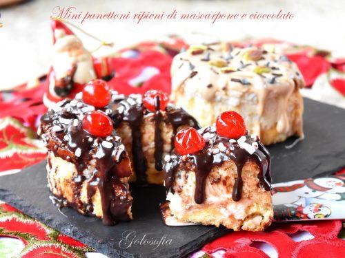 Mini panettoni ripieni di mascarpone e cioccolato, golosissimi!
