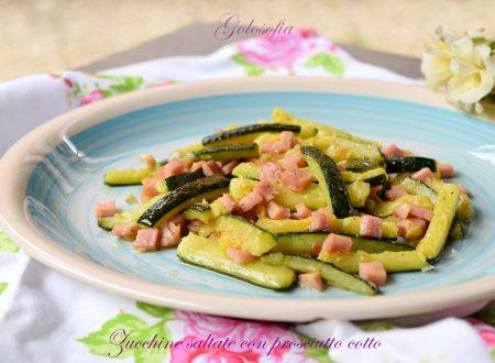 Zucchine saltate con prosciutto cotto, contorno veloce e gustoso