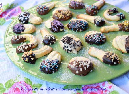 Biscotti morbidi al mascarpone e cioccolato, semplici e favolosi!