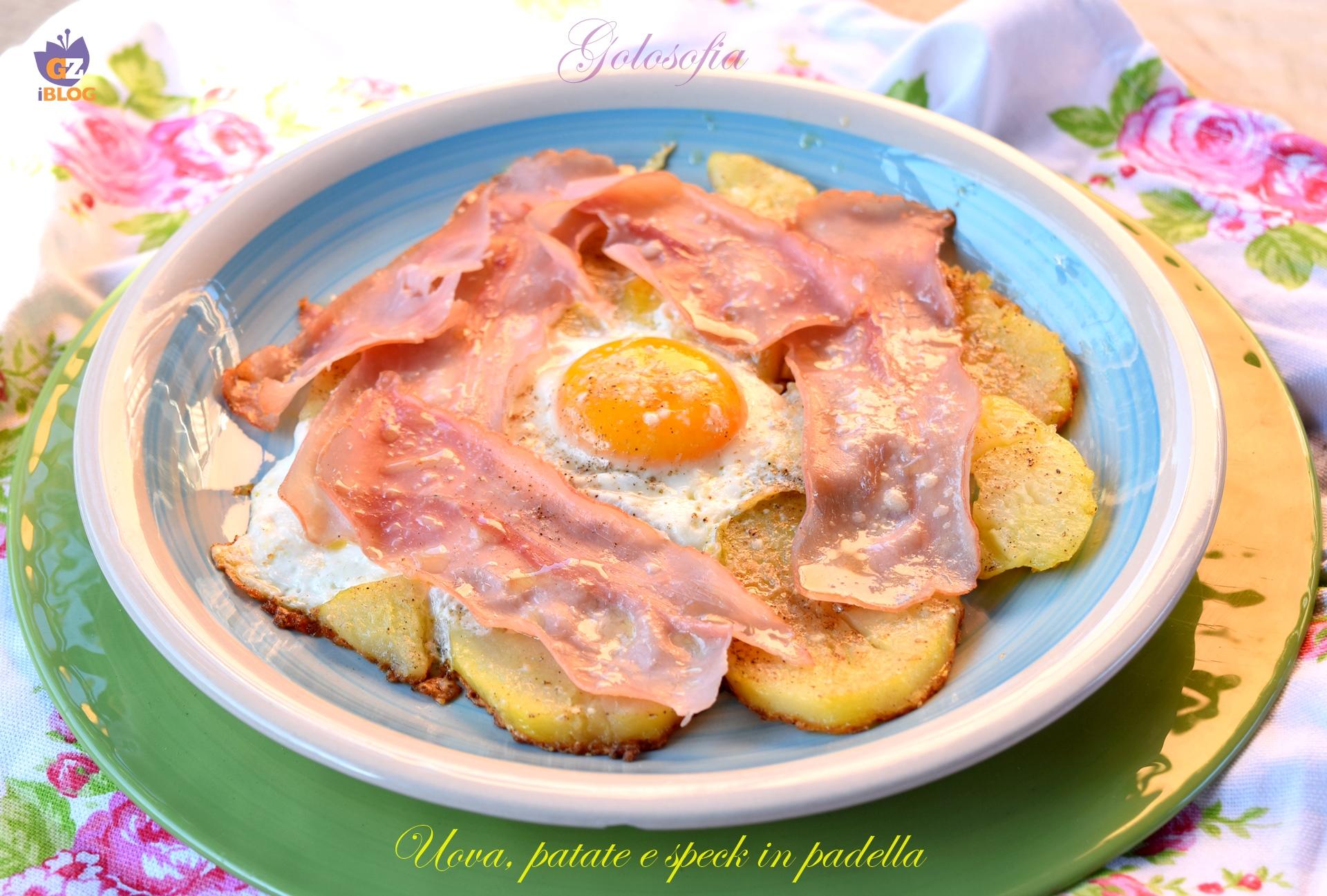 Uova, patate e speck in padella-ricetta secondi-golosofia
