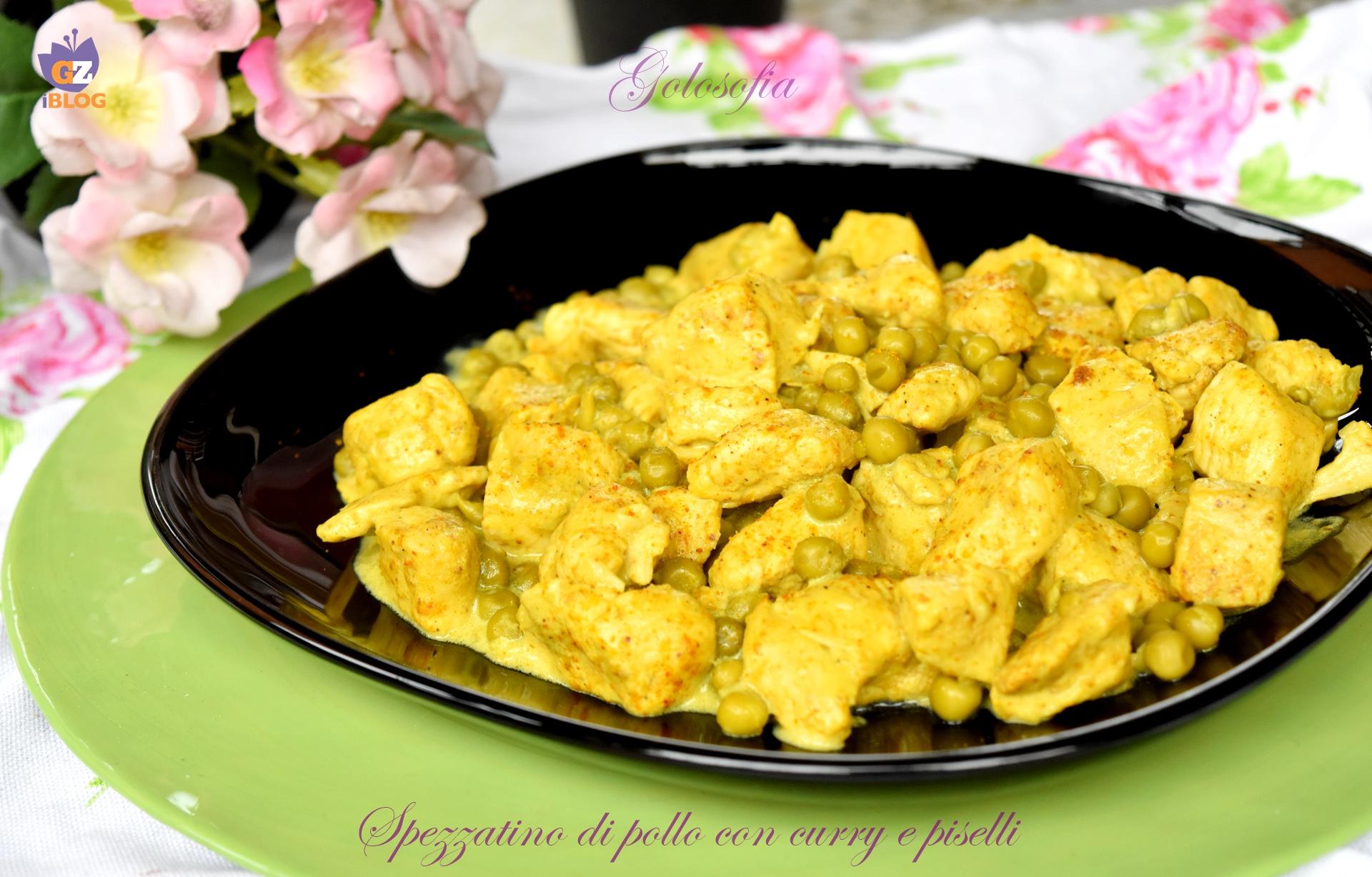 Spezzatino di pollo con curry e piselli-ricetta secondi-golosofia