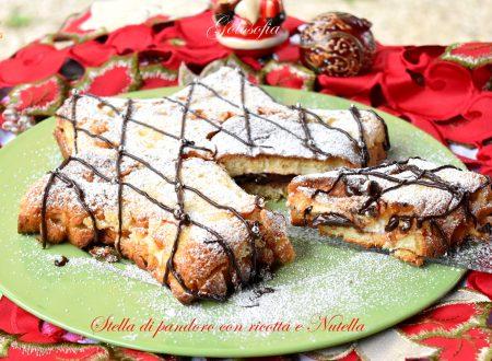 Stella di pandoro con ricotta e Nutella, ricetta semplice favolosa!