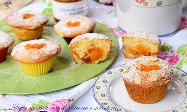 Muffin morbidi cuor di albicocca e mandorle, semplici e buonissimi