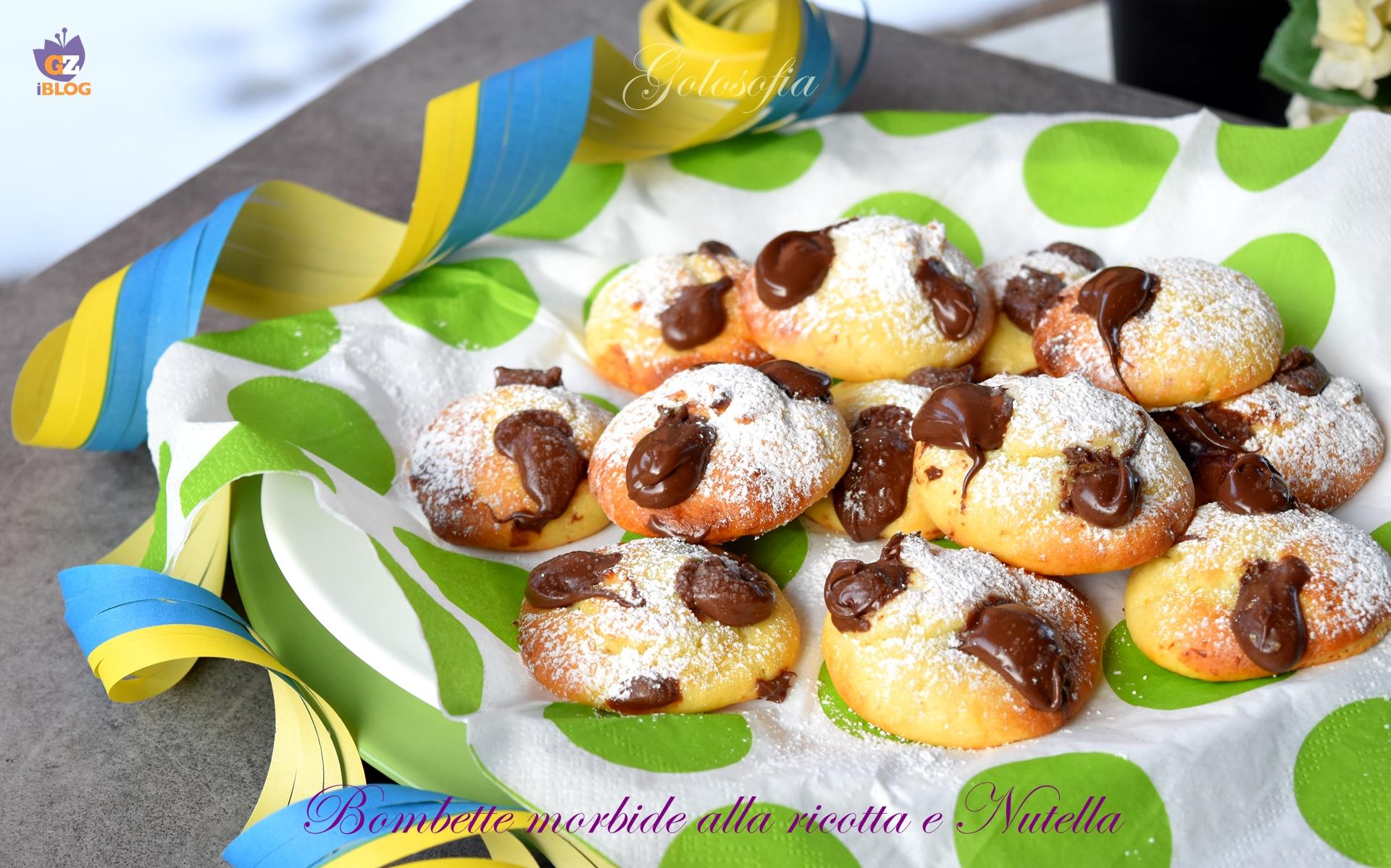 Bombette morbide alla ricotta e Nutella-ricetta dolci-golosofia