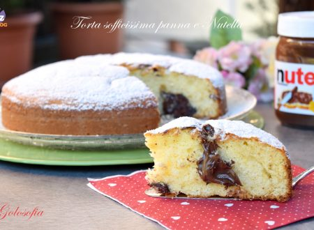 Torta sofficissima panna e Nutella, semplice e buonissima