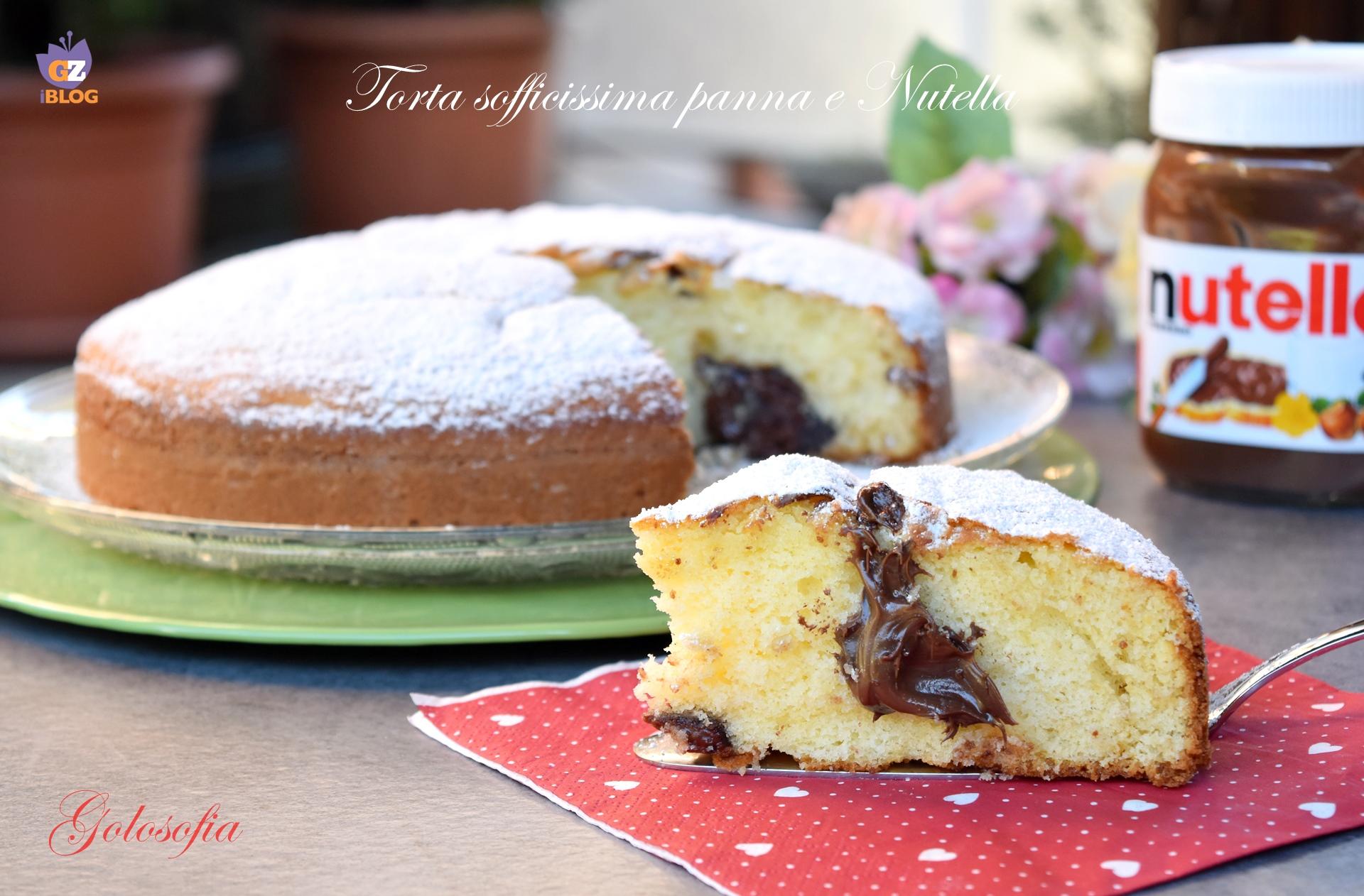 Torta sofficissima panna e nutella-ricetta torte-golosofia