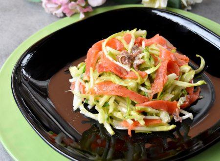 Insalata di puntarelle e salmone affumicato, ricetta buonissima