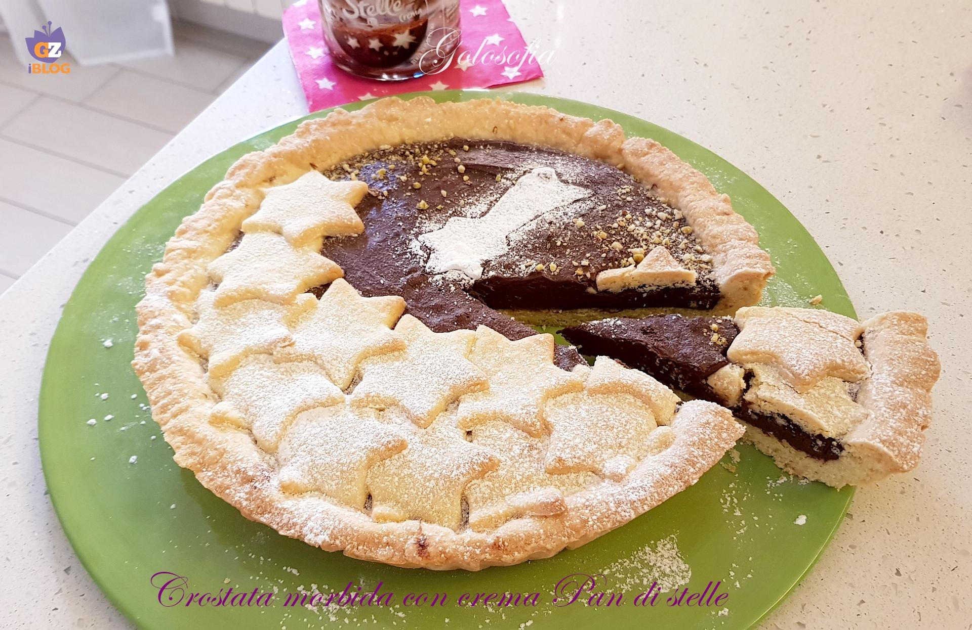 Crostata morbida con crema Pan di Stelle-ricetta dolci-golosofia