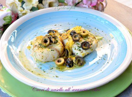 Cuori di nasello all'arancia e olive, ricetta gustosa in padella