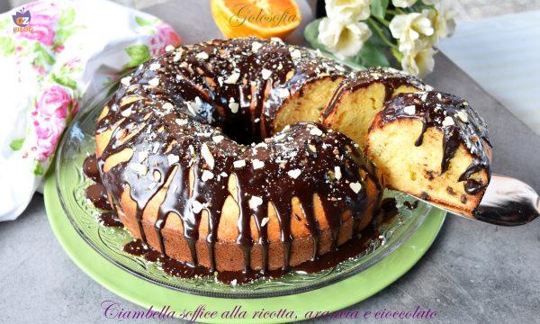 Ciambella soffice alla ricotta, arancia e cioccolato, semplice e favolosa!