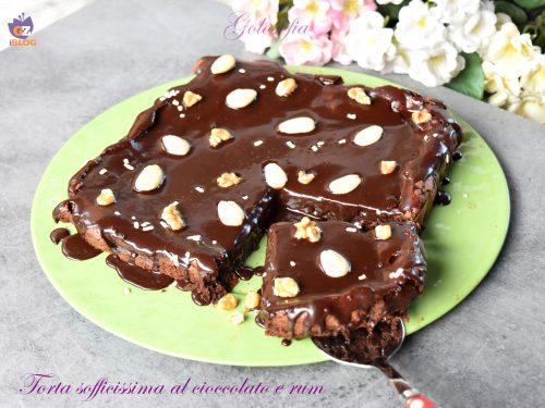 Torta sofficissima al cioccolato e rum, semplice e golosa!