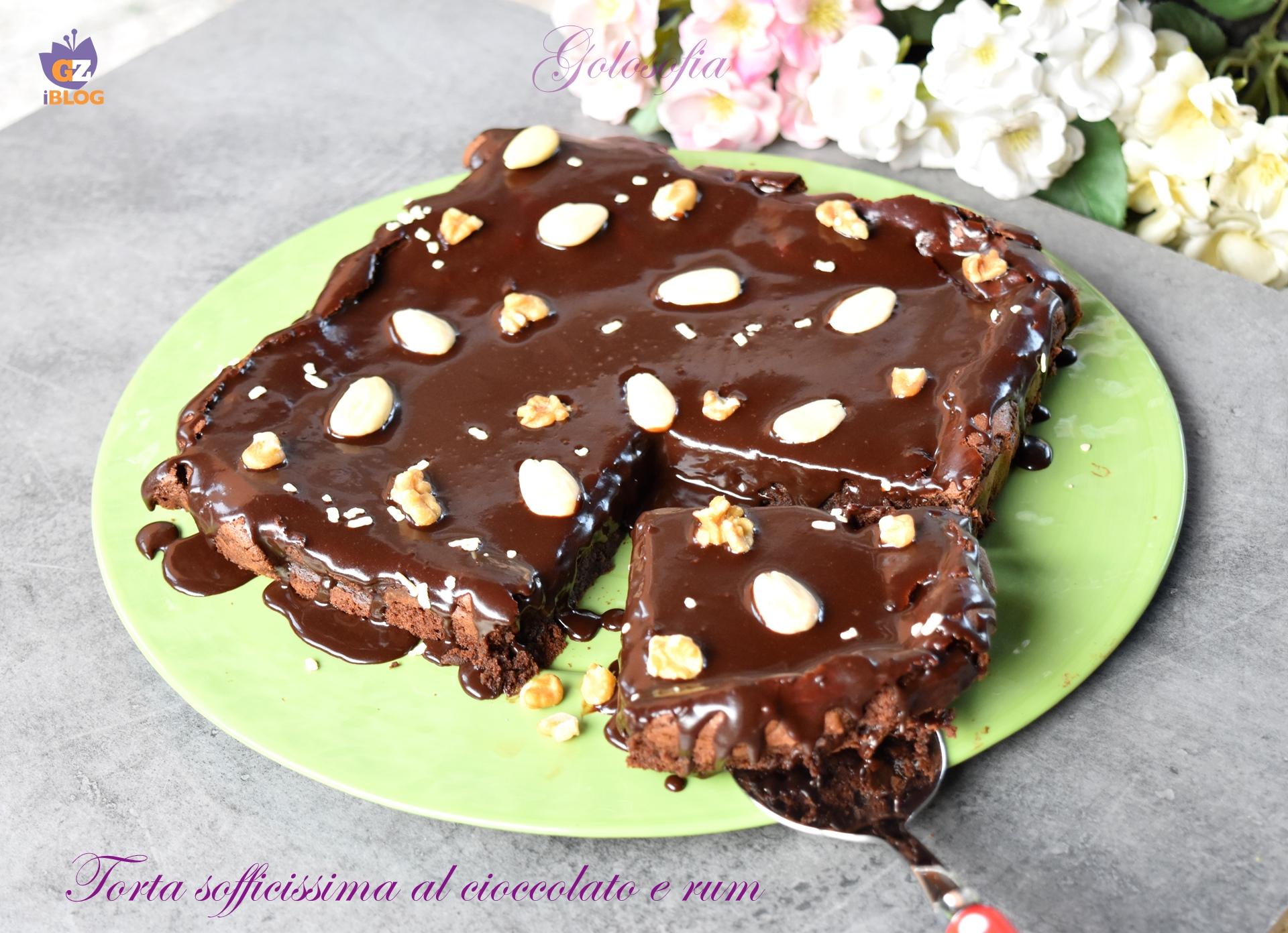 Torta sofficissima al cioccolato e rum-ricetta torte-golosofia