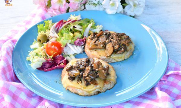 Hamburger di pollo con funghi e scamorza, golosi e veloci!