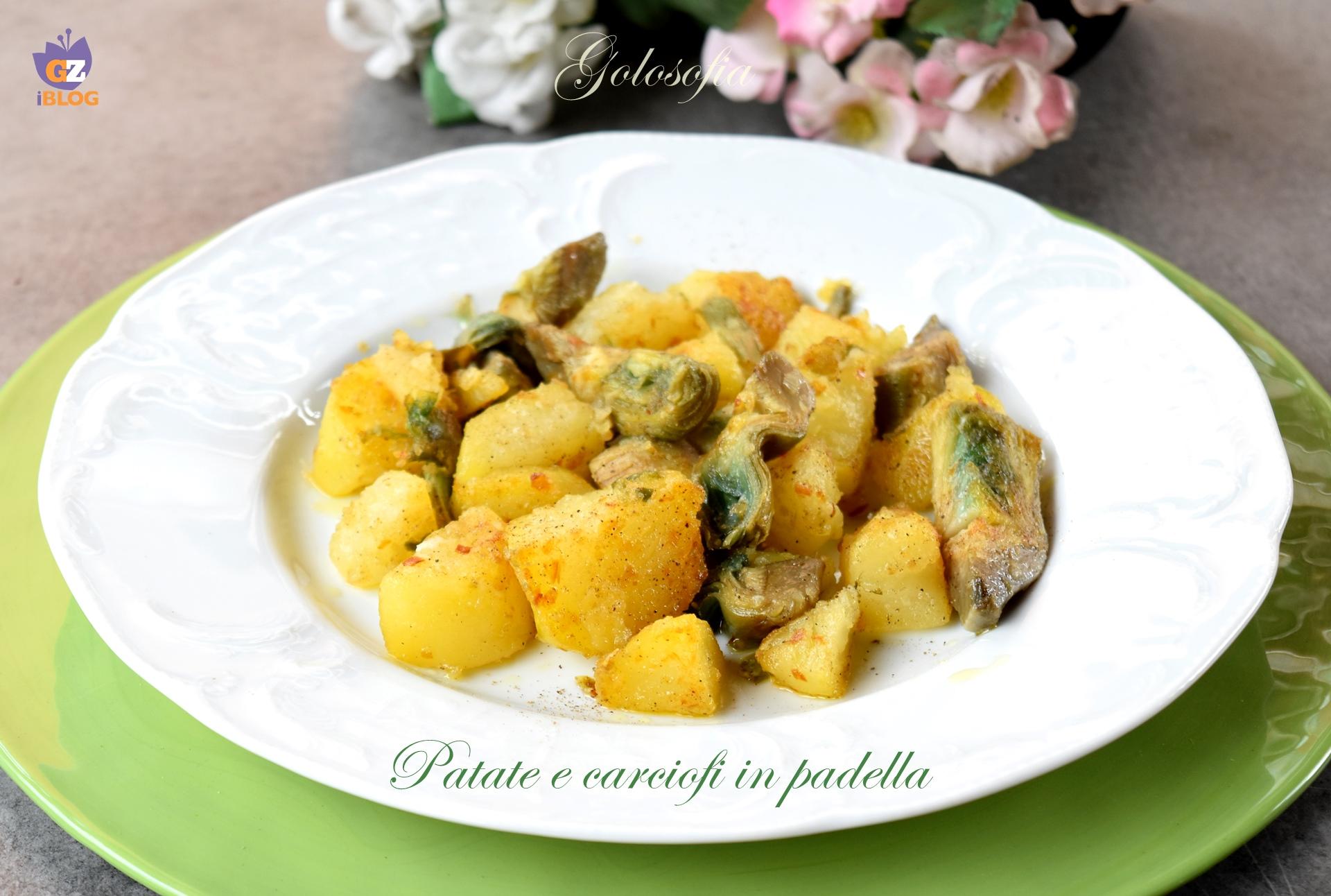 Patate e carciofi in padella-ricetta contorni-golosofia