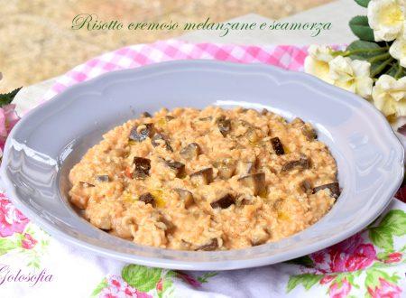 Risotto cremoso melanzane e scamorza, semplice e buonissimo!
