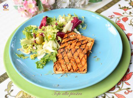 Tofu alla piastra, secondo veloce, gustoso e leggero