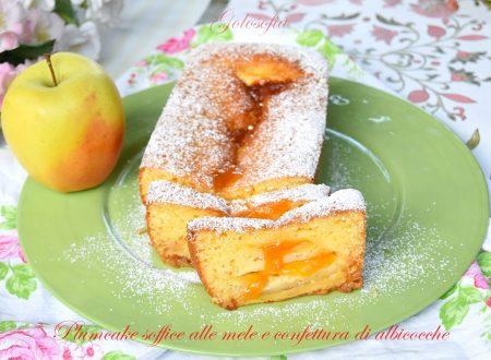Plumcake soffice alle mele e confettura di albicocche, buonissimo!