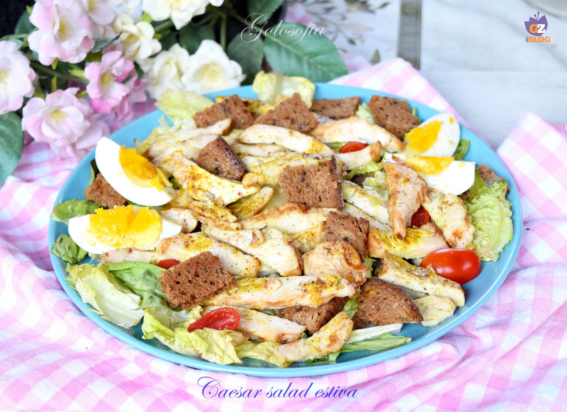 Caesar salad estiva-ricetta secondi-golosofia