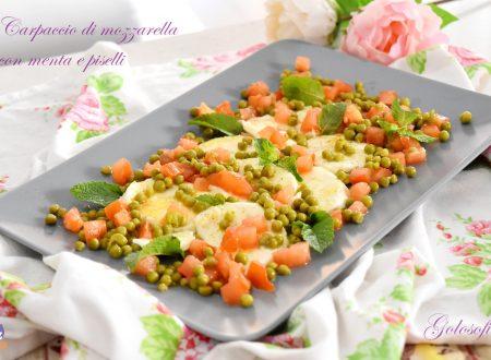 Mozzarella sfiziosa con menta e piselli, ricetta semplice e gustosa