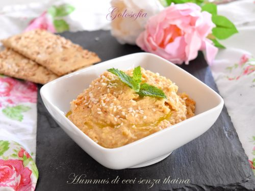 Hummus di ceci senza thaina, ricetta veloce e squisita