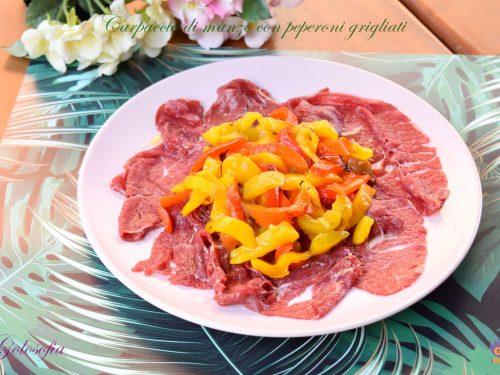 Carpaccio di manzo con peperoni grigliati, ricetta veloce e sfiziosa!