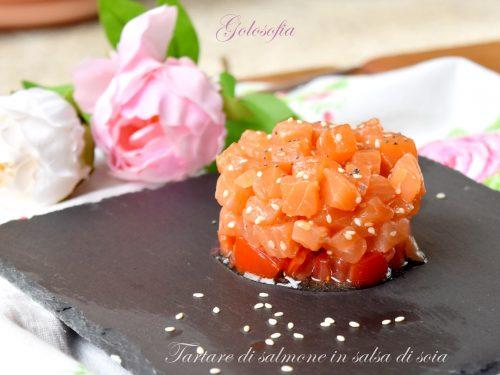 Tartare di salmone in salsa di soia, ricetta rapida e squisita