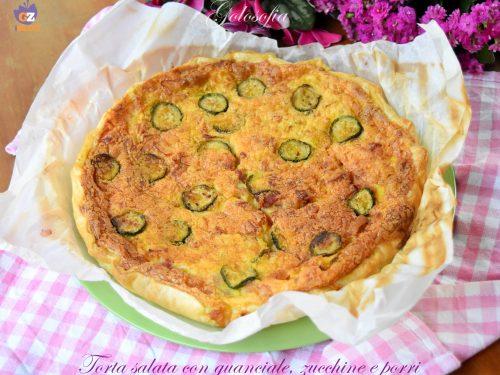 Torta salata con guanciale, zucchine e porri, ricetta favolosa!