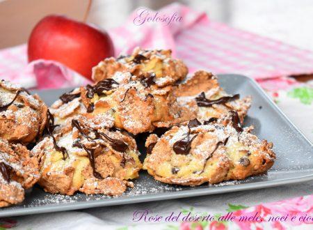 Rose del deserto alle mele, noci e cioccolato, semplici e golose!