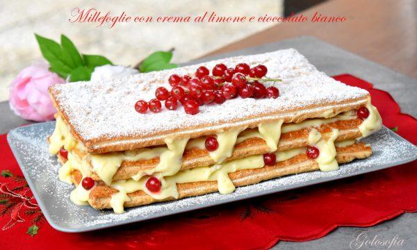Millefoglie con crema al limone e cioccolato bianco, semplice e buonissima