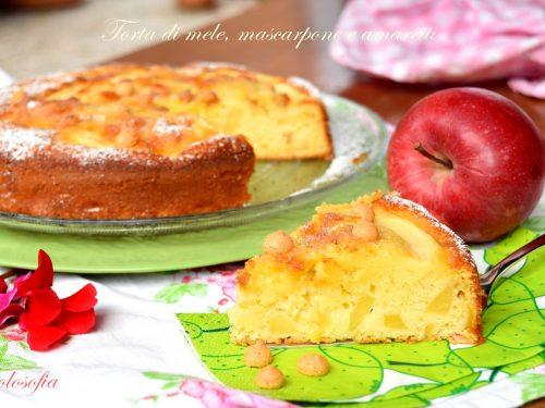 Torta di mele, mascarpone e amaretti, sofficissima e favolosa!