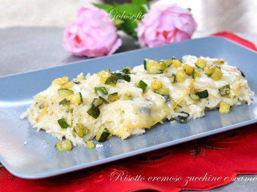 Risotto cremoso zucchine e scamorza, semplice e squisito