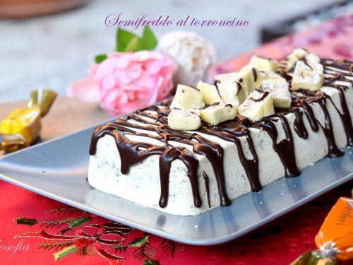 Semifreddo al torroncino, semplice e strepitoso dessert