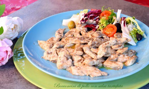 Bocconcini di pollo con salsa tartufata, cremosissimi e veloci!