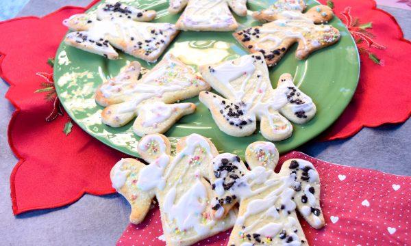 Biscotti dell'angelo glassati, semplici, colorati e buonissimi!