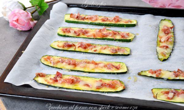 Zucchine al forno con speck e scamorza, buonissime e veloci
