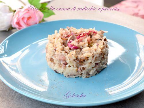 Risotto alla crema di radicchio e pancetta, ricetta semplice favolosa!