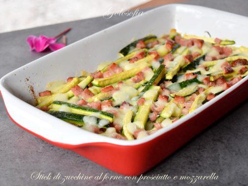 Stick di zucchine al forno con prosciutto e mozzarella, veloci e gustose!