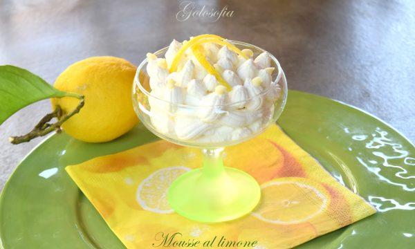 Mousse al limone, ricetta dessert leggero e cremoso