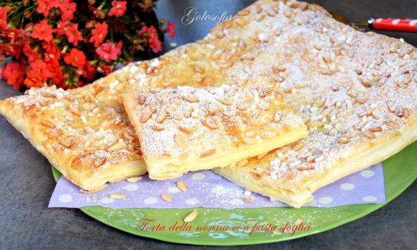 Torta della nonna con pasta sfoglia, semplice e irresistibile!