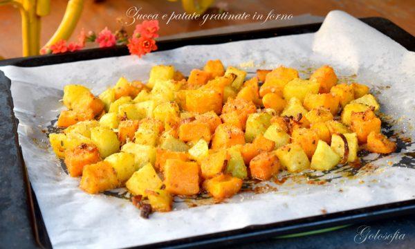Zucca e patate gratinate in forno, buone, croccanti e veloci!