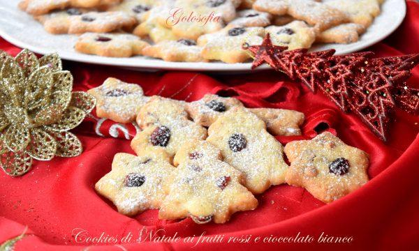 Cookies di Natale ai frutti rossi e cioccolato bianco, semplici e buonissimi!