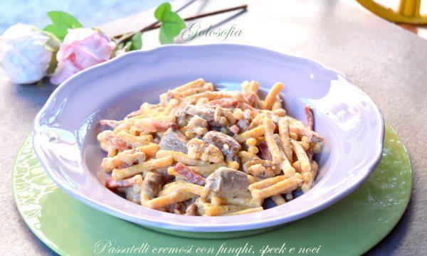 Passatelli cremosi con funghi, speck e noci, ricetta strepitosa!