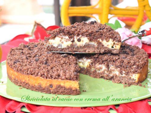 Sbriciolata al cacao con crema all'arancia, semplice e buonissima!