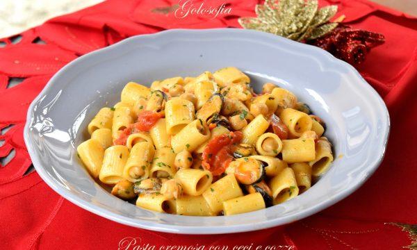 Pasta cremosa con ceci e cozze, ricetta semplice e strepitosa!