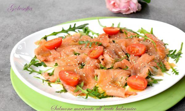 Salmone marinato all'aceto balsamico, ricetta veloce buonissima