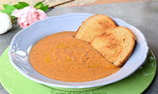 Crema di lenticchie leggera, ricetta buonissima e veloce