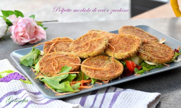 Polpette morbide di ceci e zucchine, ricetta al forno gustosa e leggera