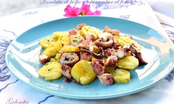 Insalata di polpo e topinambur al forno, ricetta saporita e leggera