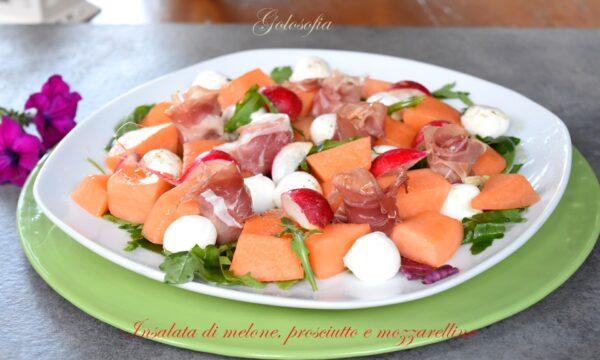 Insalata di melone, prosciutto e mozzarelline, ricetta fresca e gustosa!