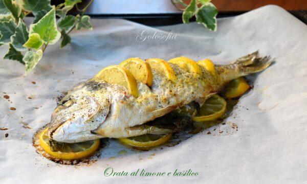 Orata al limone e basilico, ricetta al forno sana e squisita